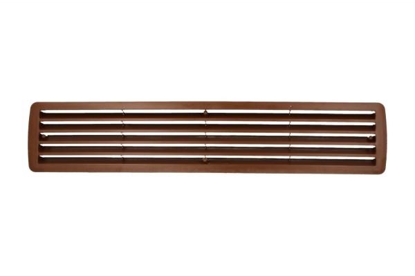 Lüftungsgitter Türlüftung Kunststoff Nussbaum paarweise 457mm x 92mm