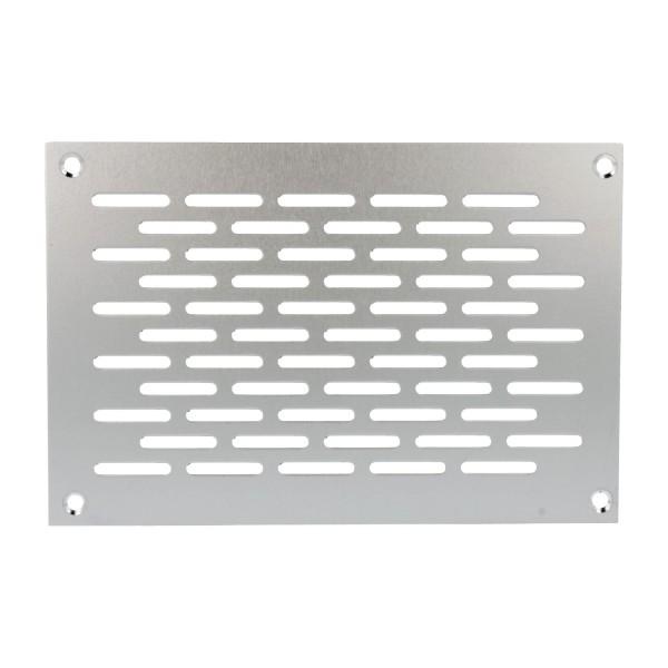 Aluminium Lochblech 150x100mm F1 Lüftungsgitter Lochung 20x3mm silber eloxiert