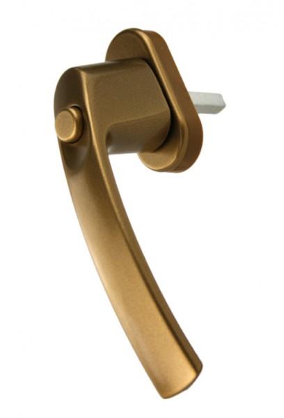 Fenstergriff Aluminium Fenstergriff mit Druckknopf Modell 143 Gold