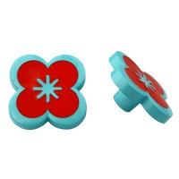 Möbelknopf Schrankknopf Kinderzimmerknopf Modell Blume