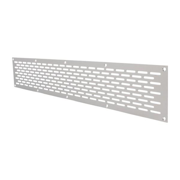 Aluminium Lochblech 500x80mm F1 Lüftungsgitter Lochung 20x3mm silber eloxiert
