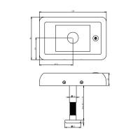 Technische Zeichnung: Digitale Türkamera DDV 1.0 von Intersteel
