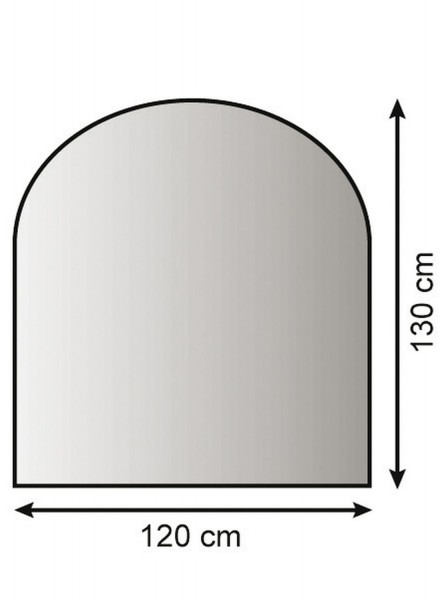 Metallbodenplatte Funkenschutzplatte 3 verschiedene Designs 120cm x 130cm