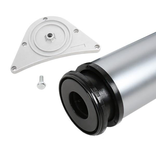 Tischbein 80mm Durchmesser Höhe 870 mm in Chrom matt Tischfuß Möbelfuss Metall