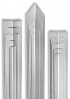 Eckschutzwinkel 40mm x 40mm x1500mm Ende gerundet Edelstahl Kantenschutz V2A