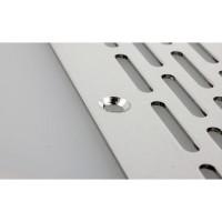 Lüftungsblech Aluminium Lochblech 100mm Breite Lüftungsgitter Silber eloxiert
