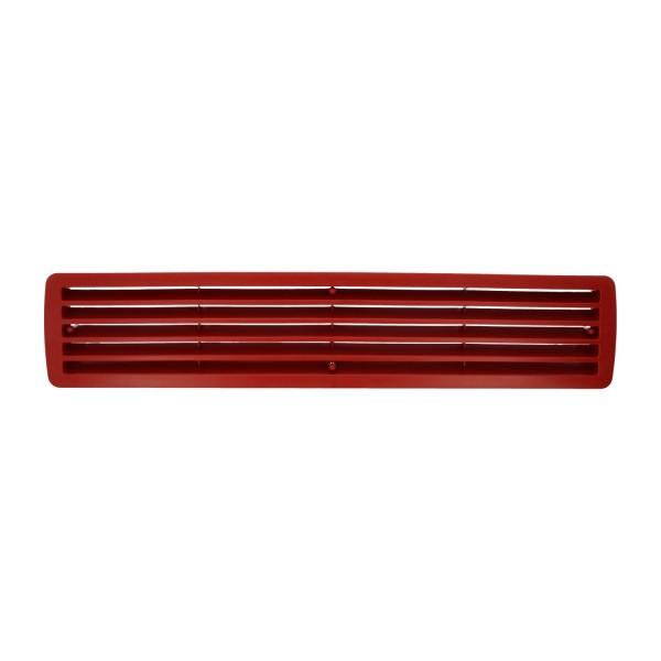 Lüftungsgitter Türlüftung Kunststoff Rubinrot paarweise 457mm x 92mm