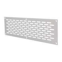 Lüftungsgitter Lochblech Aluminium 80mm Breite Silber eloxiert Heizungsabdeckung