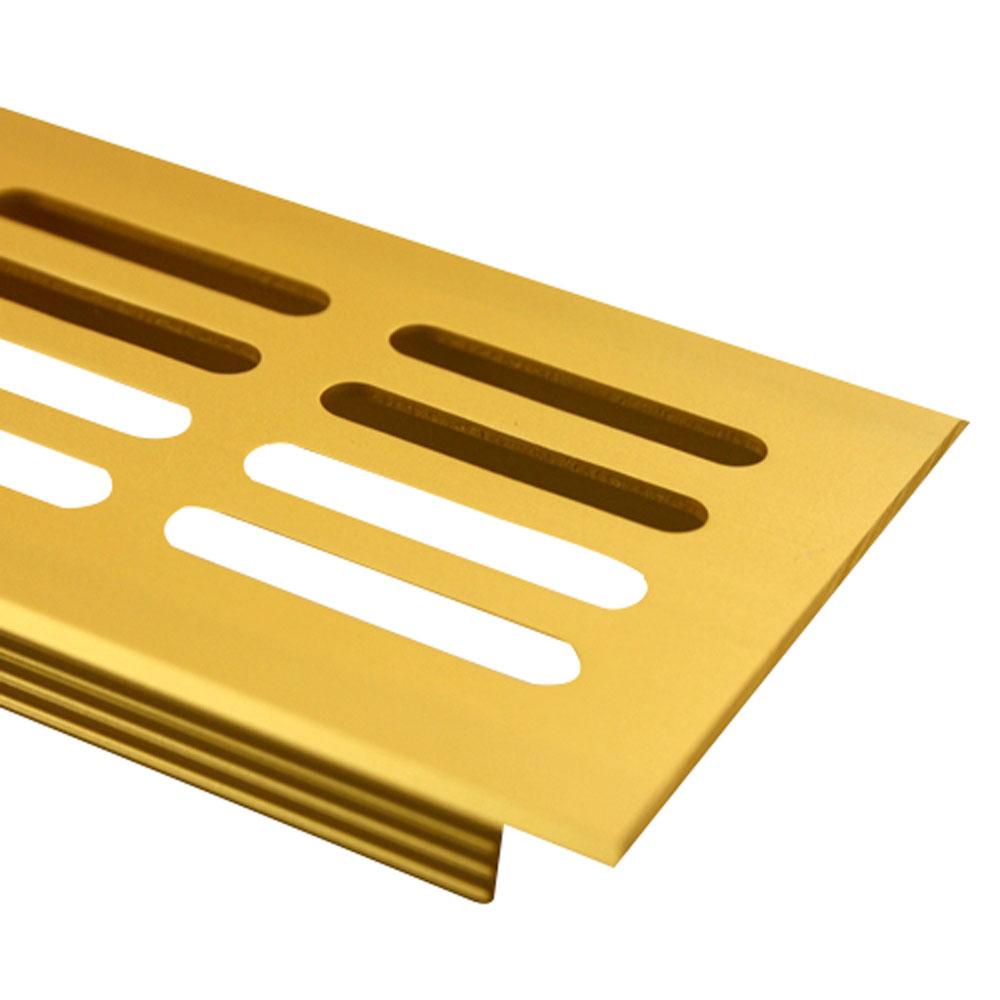 MS Beschl/äge L/üftungsgitter Stegblech L/üftung aus Aluminium 80mm x 400mm in verschiedenen Farben Schwarz - RAL 9005