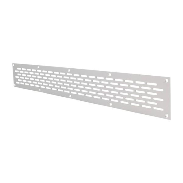 Aluminium Lochblech 500x60mm F1 Lüftungsgitter Lochung 20x3mm silber eloxiert