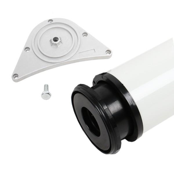 Tischbein 80mm Durchmesser Höhe 710mm in Weiss aus Metall Tischfuss Möbelfuss