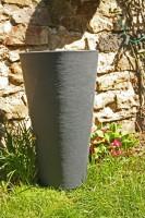 Blumenkübel Capri High Rund Anthrazit d:40cm h:70cm Blumenkübel Pflanztopf