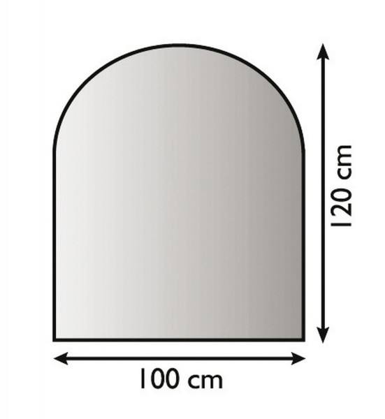 Metallbodenplatte Funkenschutzplatte 3 verschiedene Designs 100cm x 120cm