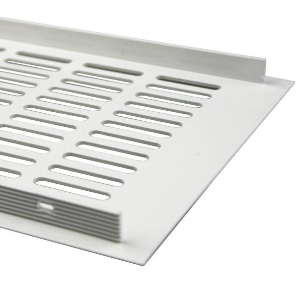 Aluminium Lüftungsgitter 150mm x 1000mm Stegblech Lüftung Heizungsdeckel Weiß RAL 9010