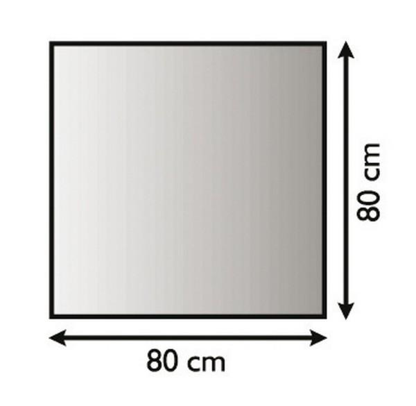Metallunterlagsplatten für Kaminöfen, pulverbeschichtet, -schwarz