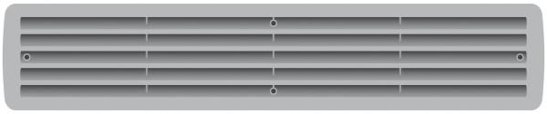 Lüftungsgitter Türlüftung Kunststoff Silber paarweise 457mm x 92mm