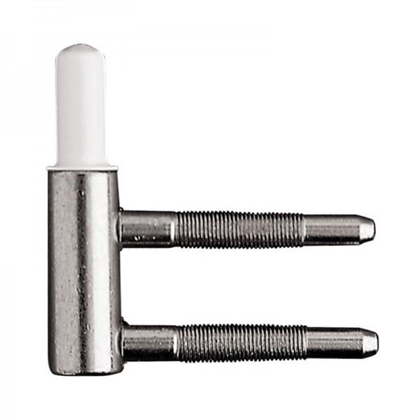 Türbandrahmenteile 2-teilig vernickelt, für Holzzarge, Ø 15 mm, wartungsfrei