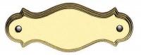 Messing Namensschild Haustürschild ungraviert Messing poliert Breite 130 mm