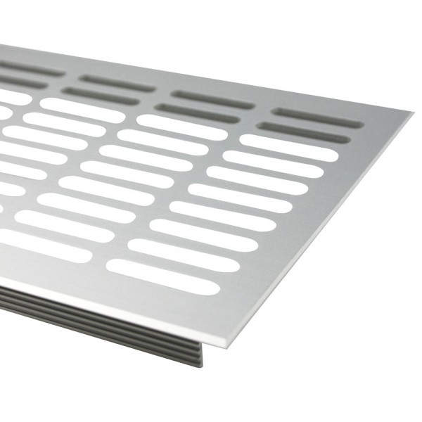 Lüftungsgitter Silber eloxiert F1 130mm x 300mm Stegblech Heizungsdeckel Lüftung aus Aluminium