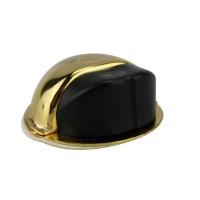 Bodentürstopper Ausführung gold Gummi schwarz Türpuffer Türstopper aus Metall