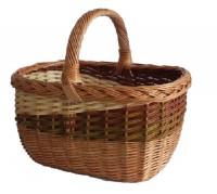 Weidenkorb, Einkaufskorb, Holzkorb