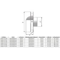 Exklusives Design Abluftgitter Lüftungskasten Lüftungshaube Edelstahl Küchenabluft