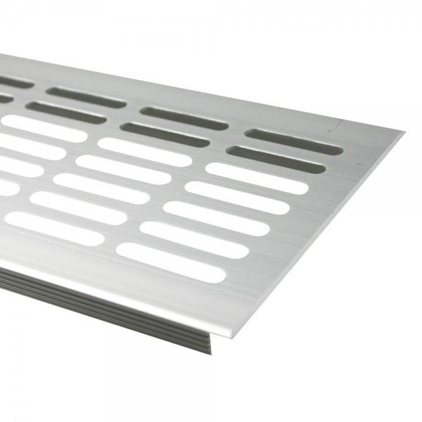 Lüftungsgitter Silber eloxiert F1 100mm x 800mm Stegblech Heizungsdeckel Lüftung aus Aluminium