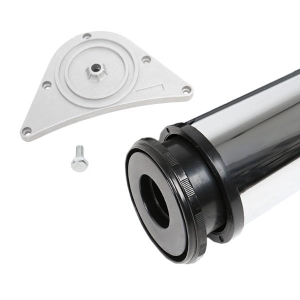 Tischbein ø 80mm Höhe 870 mm in Chrom glänzend Tischfuß Möbelfuss aus Metall