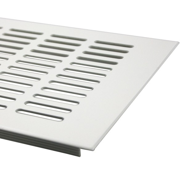 Aluminium Lüftungsgitter 150mm x 200mm Stegblech Lüftung Heizungsdeckel Weiß RAL 9010