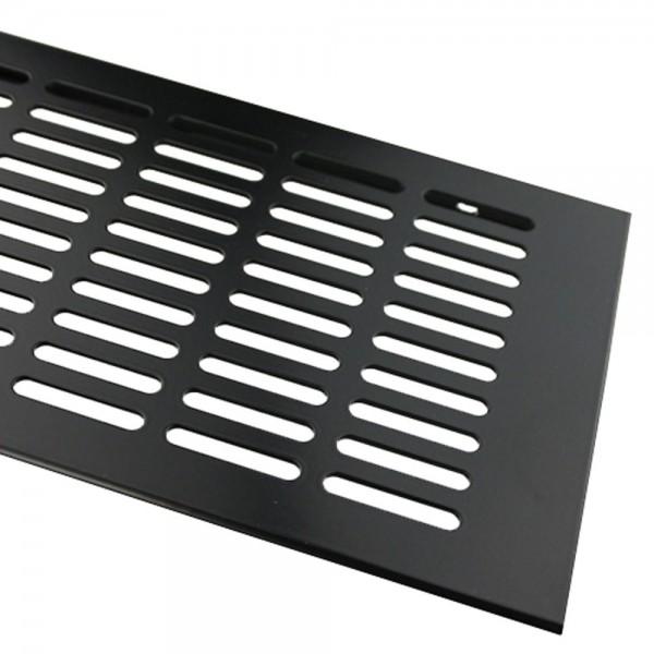 Aluminium Stegblech Schwarz 130mm x 600mm Lüftungsgitter Heizungsdeckel Lüftung RAL 9005