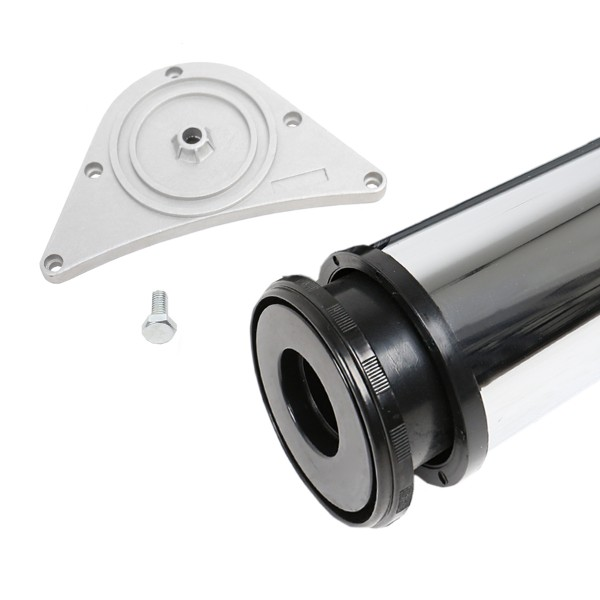 Tischbein Chrom glänzend 80mm Durchmesser Höhe 1100 mm Tischfuß Möbelfuss Metall
