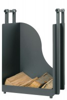 Holzkorb Holzkiste Kaminholzkorb anthrazit beschichtet B H T = 40 x 57 x 36 cm