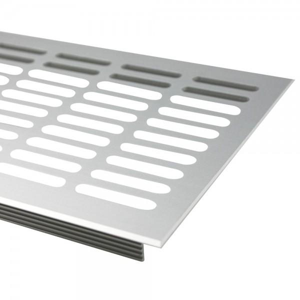Lüftungsgitter Silber eloxiert F1 130mm x 400mm Stegblech Heizungsdeckel Lüftung aus Aluminium
