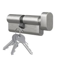 Knopfzylinder Knaufzylinder Messing Ausführung vernickelt Profilzylinder mit Knopf