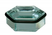 Bodentürstopper Glasstopper Türpuffer Wandstopper Glas eckig Standfest