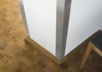 Eckschutzwinkel 20mm x 20mm x1000mm Ende gerundet Edelstahl Kantenschutz V2A
