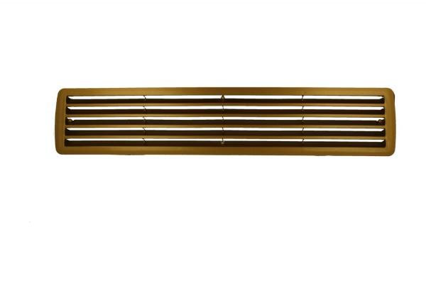 Türlüftung Lüftungsgitter aus Kunststoff Messing paarweise 457mm x 92mm