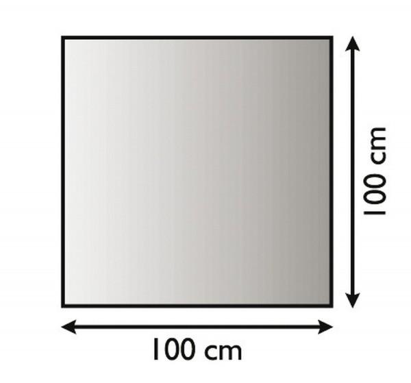 Bodenunterlagsplatte, Metallunterlagsplatte für Kaminöfen, schwarz beschichtet