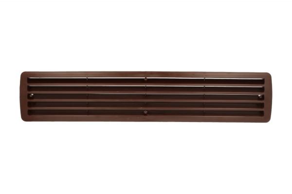 Lüftungsgitter Türlüftung Kunststoff Mahagoni paarweise 457mm x 92mm
