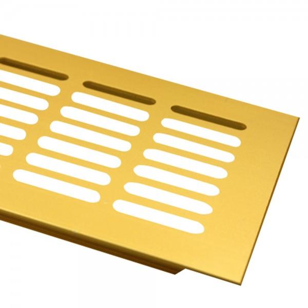 Aluminium Lüftungsgitter 100mm x 200mm Gold F3 Lüftung Heizungsdeckel Stegblech