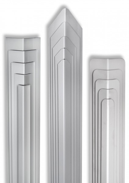 Eckschutzwinkel 40mm x40mm x1250mm Ende Gerundet Edelstahl Kantenschutz V2A