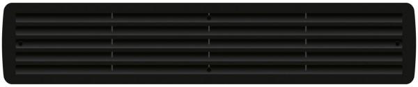 Lüftungsgitter Türlüftung Kunststoff Schwarz paarweise 457mm x 92mm