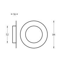 Technische Zeichnung: Griffmuschel gebürsteter Ø52/85 mm Edelstahl von Intersteel