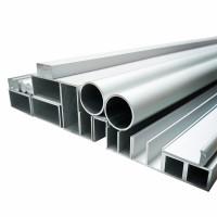 Aluminium Vierkantrohr-Profil 1mm Stärke, Flach, Profil, Winkel, natur eloxiert