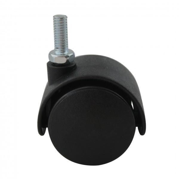 Möbelrolle Hartbodenrolle aus Kunststoff Ø35mm mit Gewindestift