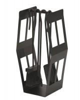 Kaminbesteck, Ofenbesteck, Kaminzubehör, 4- teilig- schwarz beschichtet
