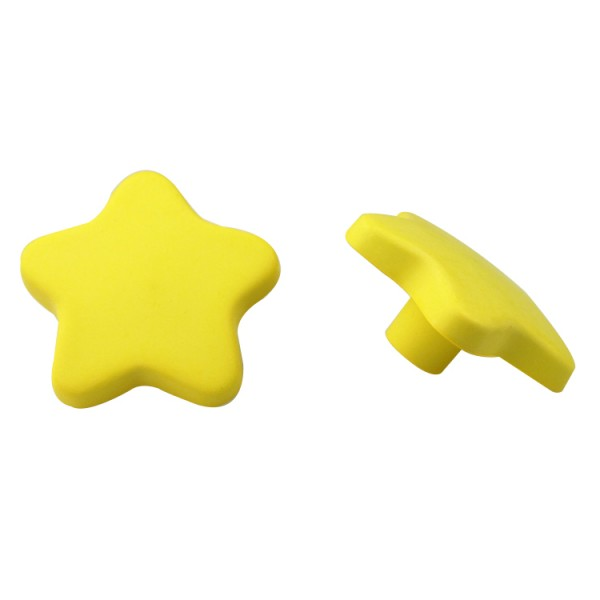 Möbelknopf Kinderzimmerknopf Schubladenknopf Schrankknopf Modell Stern Gelb