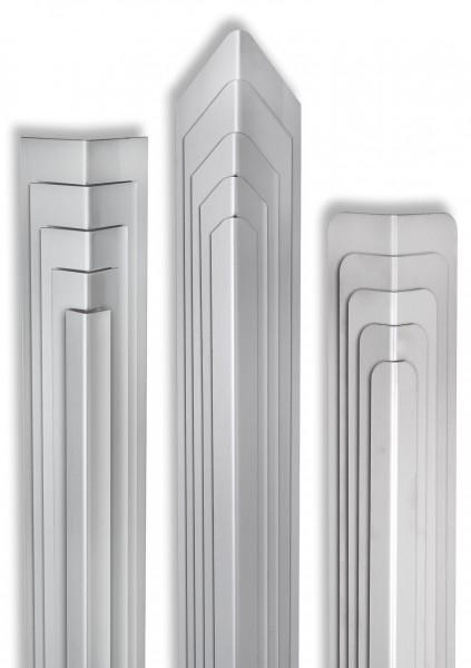 Eckschutzwinkell 40mm x 40mm x1500mm Ende gerundet Edelstahl Kantenschutz V2A