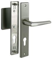 Türgriff Türbeschlag Langschildgarnitur Türklinke Türdrücker Modell Monobloc Aluminium